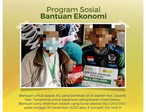 Bantuan Ekonomi untuk pengobatan Bapak AG di Tangerang