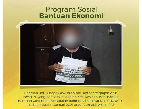 Bantuan Kesehatan Bapak AW jamaah Masjid Abdurrahman bin Auf di Bantul