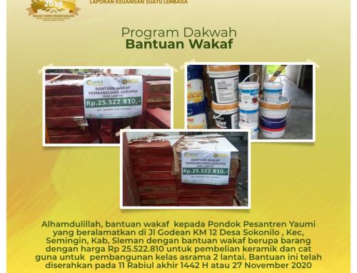 Bantuan Wakaf kepada Pondok Pesantren Yaumi di Godean, Sleman