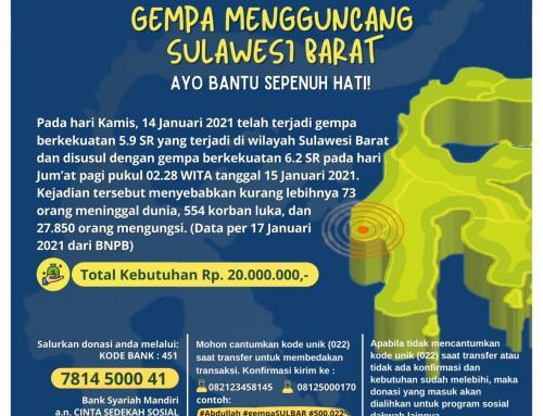 Mari Ringankan Beban Saudara Kita di Sulawesi Barat