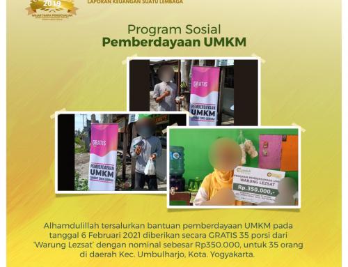 Pemberdayaan UMKM Program SCS (Sahabat Cinta Sedekah) bagian ke empat