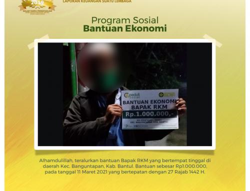 Bantuan Ekonomi kepada Bapak RKM di Banguntapan, Bantul