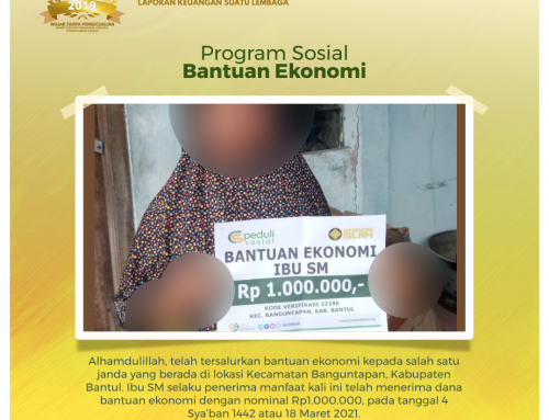 Bantuan Ekonomi kepada Ibu SM di Banguntapan, Bantul