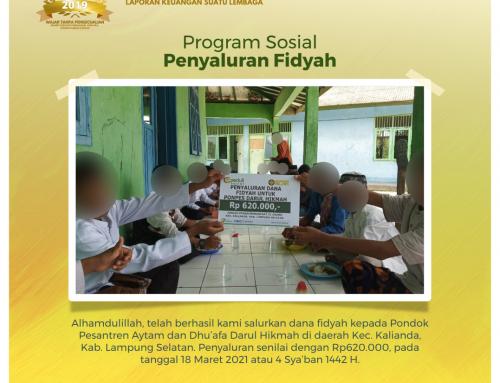 Bantuan Penyaluran Fidyah kepada Pondok Pesantren Aytam dan Dhu'afa Darul Hikmah di Kalianda, Lampung Selatan