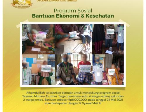 Bantuan Ekonomi dan Kesehatan Mendukung Program Sosial Yayasan Mutiara Al-Umm di Wanasalam, Lebak Banten