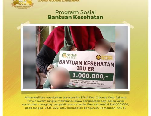 Bantuan Kesehatan Kepada Ibu ER di Cakung, Jakarta Timur