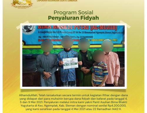 Bantuan Penyaluran Fidyah dan Kafarat Melalui Mitra Panti Asuhan Bima Bhakti Yogyakarta di Ngemplak, Sleman