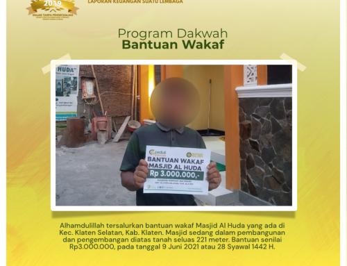 Bantuan Wakaf Kepada Masjid Al-Huda di Klaten Selatan, Klaten