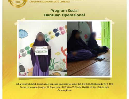 Bantuan Operasional TK & TPQ Tunas Ilmu di Patuk, Gunungkidul