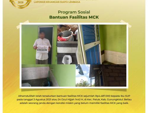 Bantuan Pembuatan MCK Kepada Ibu SUP di Patuk, Gunungkidul
