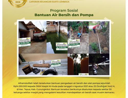 Bantuan Pengadaan Air Bersih & Peralatan Pompa di Tepus, Gunungkidul
